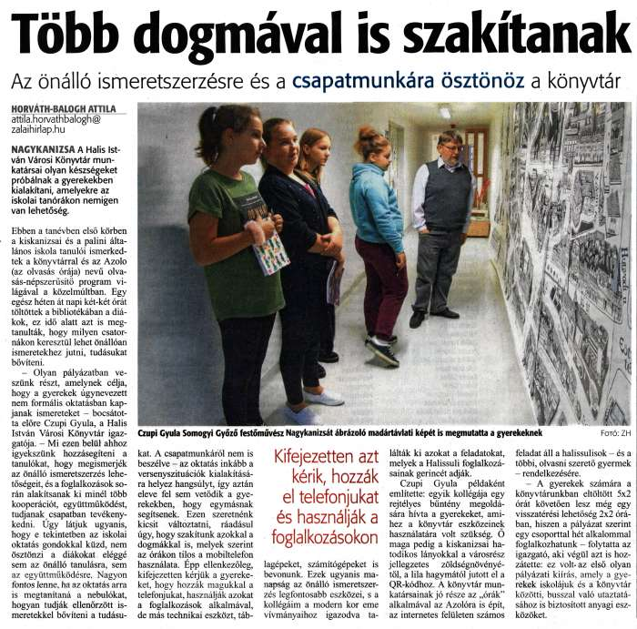 Zalai Hírlap 2019 10 31 253sz 06old - Több dogmával is szakítanak.jpg